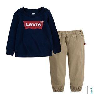Levi's Baby Boys 2-pc. Logo Pant Set